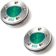 Plusker 2pcs Golf Custom Putter Weights with Green Four-Leaf Clover Pattern (15g 20g) Available for Scotty Cam