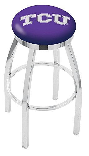 """25"""" TCU Counter Stool - Swivel With Chrome Ring and Chrome Accent"""