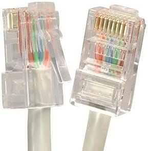 Ethernet Cable CAT5E Cable UTP CMR Riser Rated Non-Booted 8 FT InstallerParts 1Gigabit//Sec Network//Internet Cable Gray Professional Series 350MHZ 5 Pack