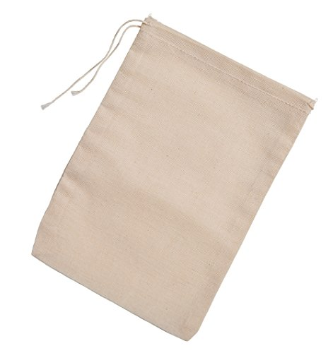 Made in the USA 100% cotton muslin drawstring bags 100 count
