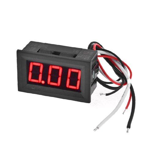 Black Current Range DC 0-10A Meter Counter 3 Digit LED Digital Display