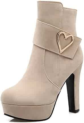 1TO9 Womens Boots Closed-Toe Zip Kitten-Heel Rubber Nubuck Ankle-Cuff Bootie Boots MNS02618