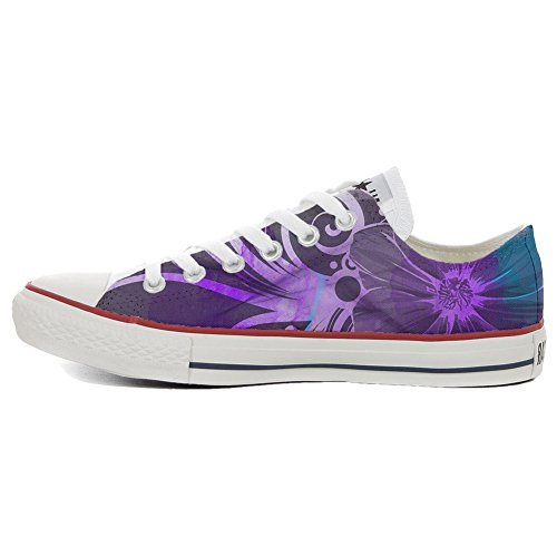 Converse All Star zapatos personalizados (Producto Handmade) Slim Purple flors