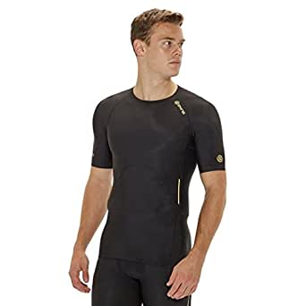 SKINS A400 Men's Compression T-Shirt, Black, S