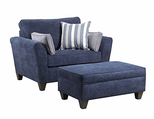 Simmons Upholstery 7081-015 Chair, Prelude Navy