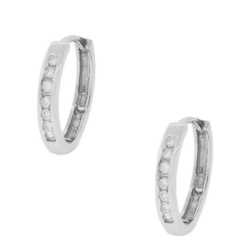 925-Sterling-Silver-White-CZ-Hoop-Huggie-Earrings