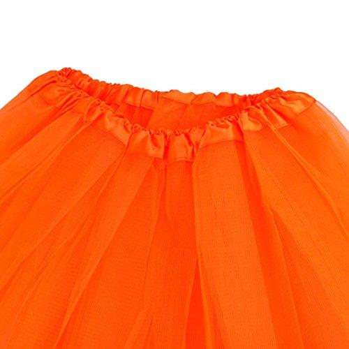 per Elecenty danza Gonna Organza adulti Pizzo Ballo Ballerina in Arancione Gonna Balletto adulti da per Tutu xArgAYwq