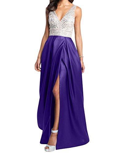 La Promkleider Abendkleider Kleider mia Lang Partykleider Festlichkleider mit Violett Brau Abschlussballkleider Jugendweihe Steine rqqt10