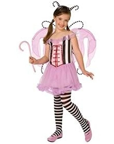 Tooth Fairy Costume Kids (Girl MED 6-8 Amy Brown DELUXE Pink Fairy I Want Candy Princess Halloween Costume)