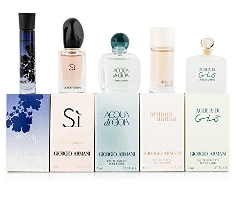 Giorgio Armani Variety 5 Piece Mini Gift Set for - Perfume Armani Mini