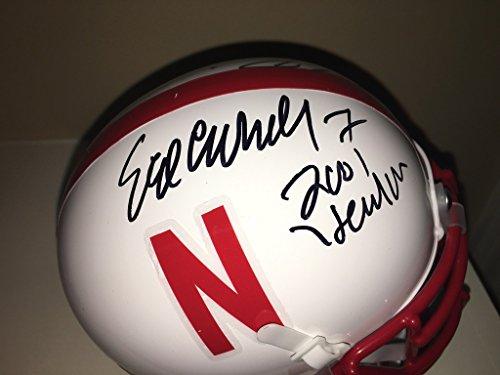 Eric Crouch/Mike Rozier Autographed Nebraska Cornhuskers Mini Helmet