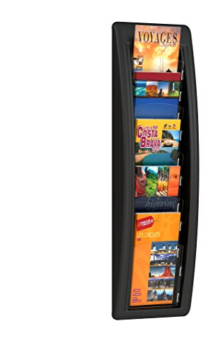 (5 Pocket Letter Quick Fit Systems Literature Display Finish: Black)
