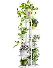 Plant Stand Flower Holder - Metal 6 Tier 7 Pot Multiple Planter Shelf Display Rack Storge Organizer for Balcony Garden Indoor Outdoor Corner