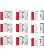 Travas Magnéticas Invisíveis Ultrafinas Da Porta, Fecho Magnético Sem Soco, Trava Da Fechadura Magnética Invisível Da Porta, ímãs De Gaveta Com Adesivo Para Guarda-roupa De Cozinha