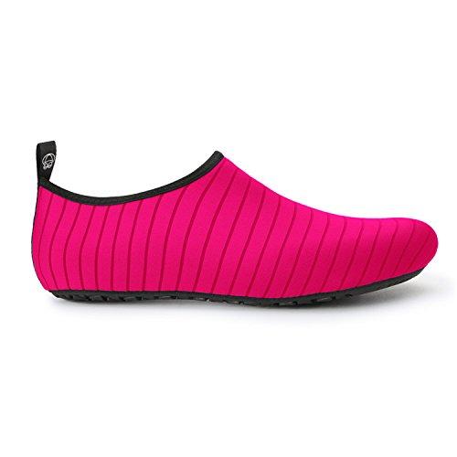 JOINFREE Damen Herren Kid Sommer Wasser Schuhe Barfuß Schuh Quick Dry Aqua Socken Yoga Linie Pfirsich