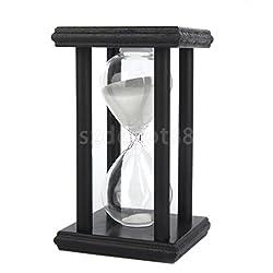 XENO-30 Min Minutes Wooden White Sand Sandglass Hourglass Timer Clock Home Decor
