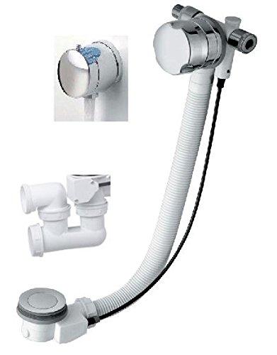 Neu Ab-/Überlaufgarnitur mit Wassereinlauf, 55cm lang, für Badewannen  MZ16