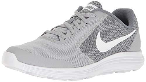 - Nike Boys' Revolution 3 (GS) Running Shoe, Wolf White/Cool Grey, 5 M US Big Kid