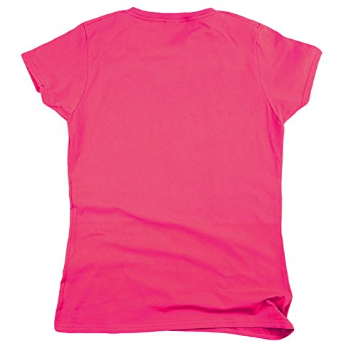 shirt 123t T Slogans Manches Slogan Courtes Rose Femme Fluo Eq1On1z