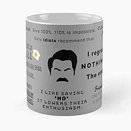 Ron Swanson – Taza clásica de regalo divertida taza de té ...