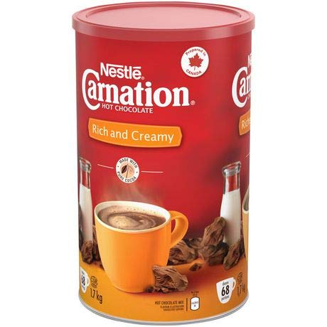 - Nestle Carnation Rich and Creamy Hot Chocolate Mix, 1.7kg / 60 oz {Imported from Canada}