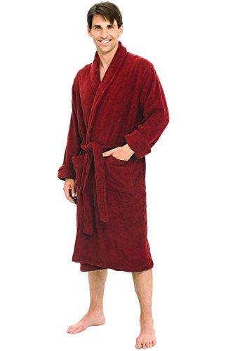 Alexander Del Rossa Mens Turkish Terry Cloth Robe e7ffd288b
