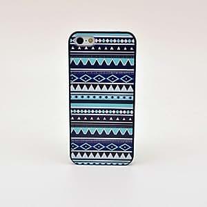 Tiras azules Patrón Dibujo PC Ha Patrón de plástico duro caso para iPhone 5/5S Negro