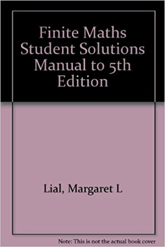 Finite Mathematics (Student Solutions Manual)