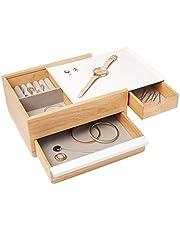 Umbra Stowit Jewelry Box, White/ Natural