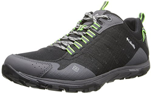 Columbia Men's Conspiracy Razor Trail Shoe,Black/Nuclear,9.5