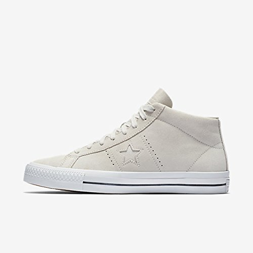 Converse Unisex One Star Pro Mid Pale/Putty/Pale/Putty Skate Shoe 10.5 Men US/12.5 Women US