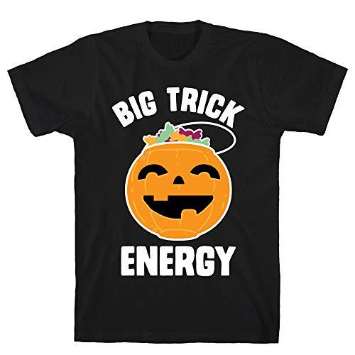 LookHUMAN Big Trick Energy Small Black Men's Cotton -