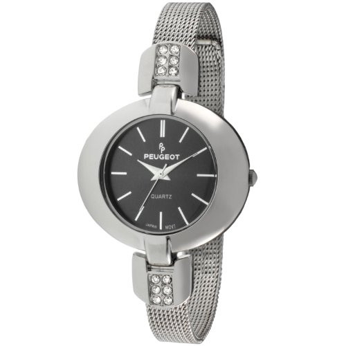 Peugeot Women's 7093GN Stainless Steel Crystal-Accented Watch