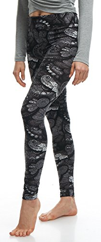 LMB Lush Moda Extra Soft Leggings with Designs- 505YF Floral Abstract Yoga by LMB (Image #6)