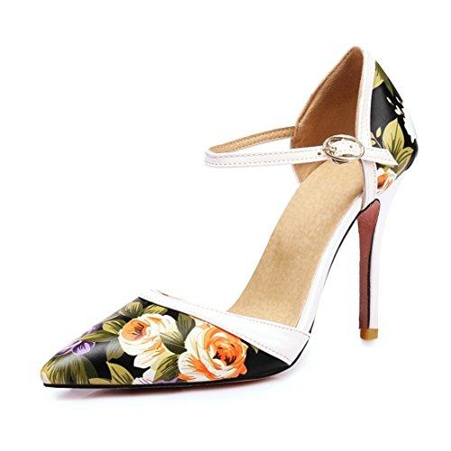 Tacón Verano Zapatos Tacones de Primavera Altos y black Zapatos de Código Sello de el Sandalias Mujer La 5n6PYUx