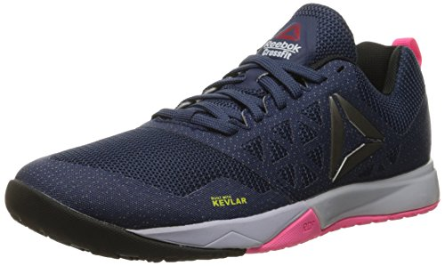 Reebok Women's Crossfit Nano 6-0 Cross-Trainer Shoe, Blue Ink/Lucid Lilac/Poison Pink/Black/Pewter, 7.5 M US