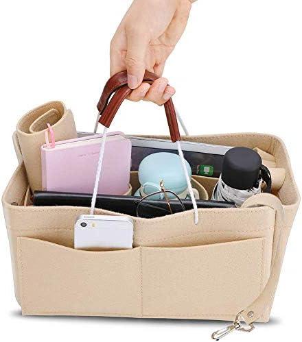 keruite フェルトインサートバッグ ハンドバッグ用オーガナイザーバッグ ハンドバッグ/財布オーガナイザー 旅行用収納ボックスオーガナイザー