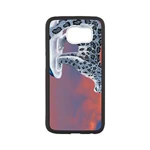 snow leopard drawing Samsung Galaxy S6 Cell Phone Case Black DA03-222372