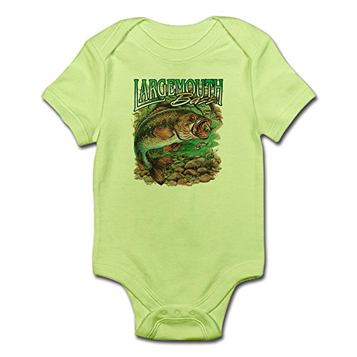 - Royal Lion Infant Bodysuit Largemouth Bass Fishing Fisherman - Kiwi, 0 to 3 Months