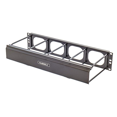 Hubbell - HM27C - Single Side Horizontal Ring Manager, for Use with Racks, Cabinets, Swing Rack, Rack Mount Type