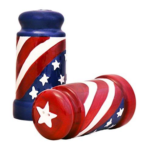 American Flag Salt & Pepper Set of 2 8.75