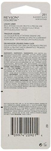 Revlon Colorstay Liquid Eyeliner Unisex, No.251 Blackest Black, 0.08 Ounce
