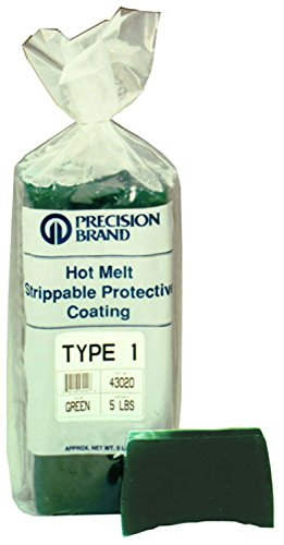Precision Brand 43110 Type 1 Hot Melt Strippable Protective Coating, Clear Color, 30 lb. Package, 340-350 Degree F Melting Temperature by Precision Brand