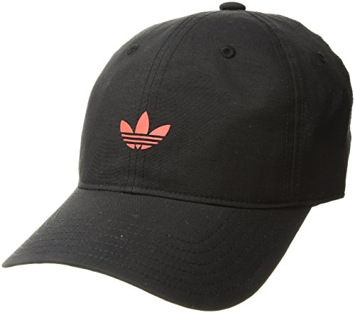 - adidas Men's Originals Modern Relaxed Adjustable Strapback Cap, BLACK/REAL CORAL, One Size