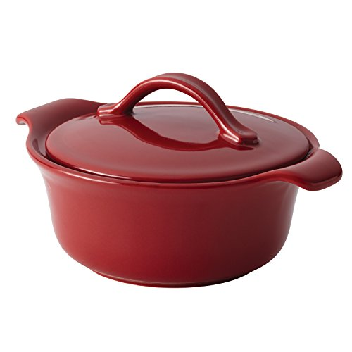 Anolon 46065 Vesta Ceramics Casserole, 18 oz, Paprika Red