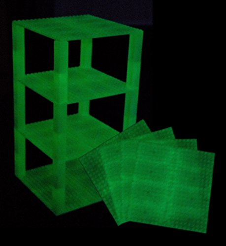 Premium Glow in the Dark Stackable Base Plates - 4 Pack 6