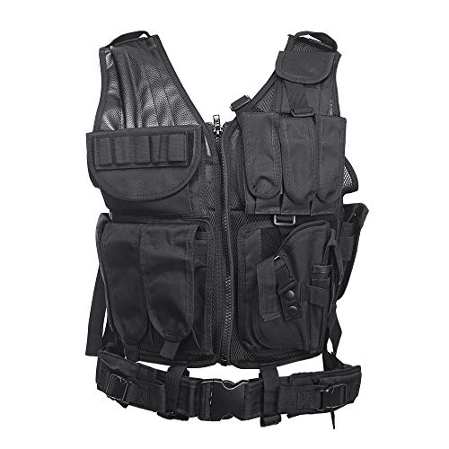 OPS New Multifunctional Special Forces Outdoor Tactical Vest (Black)