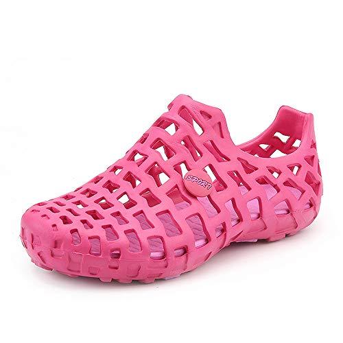 Miuye yuren-Shoe Women's Mayari Oiled Leather Sandal Hot Pink