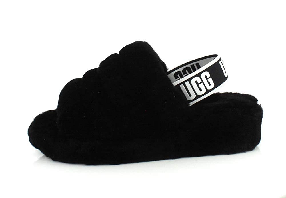 Womens UGG® Fluff Yeah Slide Sandal Black