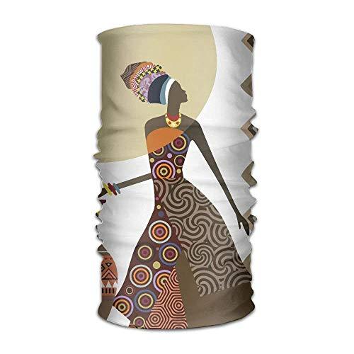Fisbexy African Women Pot Painting Headwrap Unisex Multifunction Headwear Polyester Quick Dry Soft Neck Scarf,Cool Headdress Travel Magic Head Scarf Bandana Mask Neck Gaiter for Men Women by Fisbexy